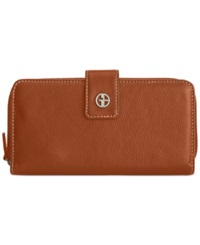 Giani Bernini Softy Leather All In One Wallet Cognac