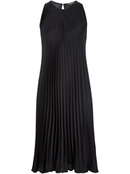 Tess Giberson Loose Fit Pleated Dress Blue