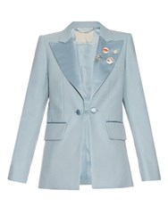 Marc Jacobs Oversized Lapel Tuxedo Jacket Light Blue