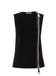 Christopher Kane Zip Front Sleeveless Top