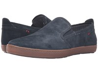 Hush Puppies Goal Roadcrew Navy Suede Gum Men's Slip On Shoes
