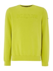 Duck And Cover Men's Radar Crew Neck Sweat Lime