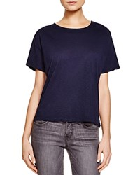 Nation Ltd. Nation Ltd Lace Up Back Tee 100 Bloomingdale's Exclusive Navy