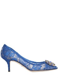 Dolce And Gabbana 60Mm Bellucci Lace Swarovski Pumps