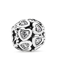 Pandora Design Pandora Charm Sterling Silver And Cubic Zirconia Love All Around Moments Collection