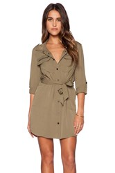 Sanctuary Village Shirt Dress Army