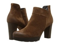 Paul Green Alissa Oak Suede Women's Zip Boots Brown