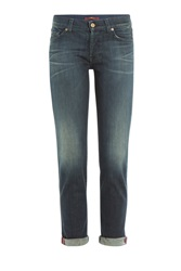 7 For All Mankind Seven For All Mankind Josefina Cropped Jeans Blue