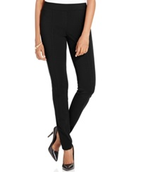 Style And Co. Stretch Seam Front Ponte Leggings Only At Macy's Deep Black