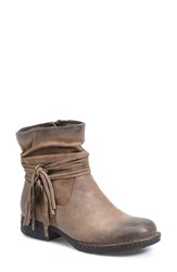 Brn Women's B Rn 'Cross' Bootie Taupe Distressed Leather