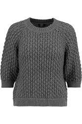 Raoul Textuted Knit Sweater Gray