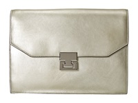 Ivanka Trump Hopewell Clutch Champagne Metallic Clutch Handbags Beige