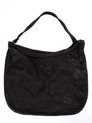 Guidi Hobo Shoulder Bag Black