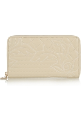 Versace Quilted Leather Wallet Ecru