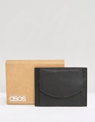 Asos Leather Card Holder With Coin Pocket Black