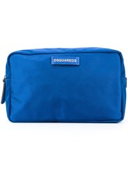 Dsquared2 'Donald Beauty' Wash Bag Blue