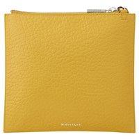 Whistles Perry Bubble Leather Chain Clutch Bag Yellow