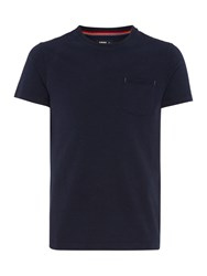 Army And Navy Woods Recycled Yarn Short Sleeve Tshirt Navy