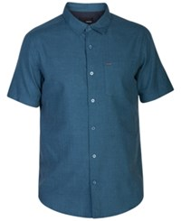 Hurley Men's One And Only Short Sleeve Shirt Star Blue