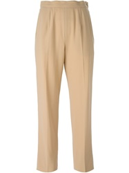 Celine Vintage High Waist Trousers Nude And Neutrals
