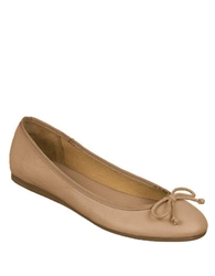 Franco Sarto Zapp Leather Ballet Flats With Bow Accent