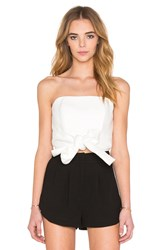 C Meo Making Waves Bustier Ivory