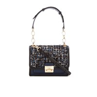 Karl Lagerfeld Women's K Kuilted Tweed Mini Handbag Midnight Blue