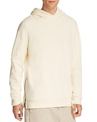 Vince French Terry Side Zip Pullover Hoodie Painters Cloth