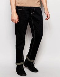 Dickens And Browne Slim Fit Stretch Zip Fly Jean Navy