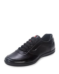 Prada Offshore Leather Sneaker Black