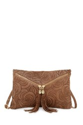 Convertible Leather Envelope Clutch Brown