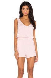 Bobi V Neck Sleeveless Romper Pink