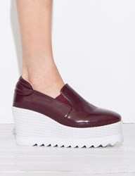 Pixie Market Burgundy Platform Loafers