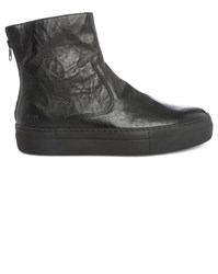 National Standard Core Black Leather Boot Trainers
