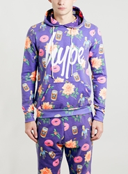 Topman Hype X The Simpsons Bowling Homer Hoody Multi