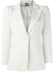 Alexander Mcqueen One Button Blazer Nude And Neutrals