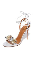 Aquazzura Disco Thing Sandals Silver