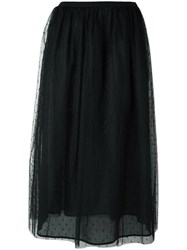 Red Valentino Sheer Layer A Line Skirt Black