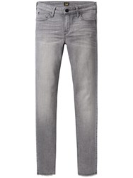 Lee Scarlett Raw Edge Cropped Skinny Jeans Authentic Grey