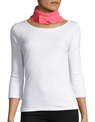 Kate Spade Bow Accented Neck Wrap Costume Pink