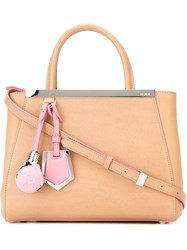 Fendi Small '2Jours' Tote Nude And Neutrals