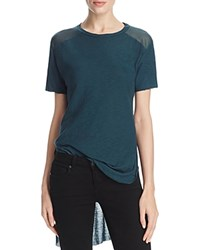 Michelle By Comune High Low Slit Contrast Tee Penderosa Pine