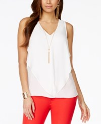 Thalia Sodi Embellished Cascade Sleeveless Top Only At Macy's