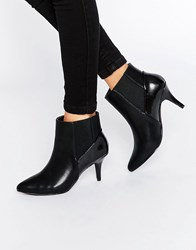 Pieces Psjosie Heeled Ankle Boots Black