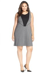 Plus Size Women's Tart 'Deandra' Ponte Fit And Flare Dress