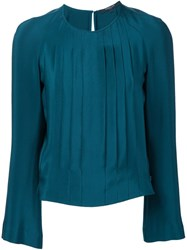 Derek Lam Long Sleeves Blouse Blue
