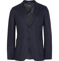 Rag And Bone Woodall Unstructured Melton Wool Blend Blazer Storm Blue