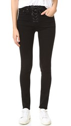 Rag And Bone Lace Up Skinny Jeans Coal