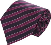 Kiton Shadow Stripe Jacquard Neck Tie Purple