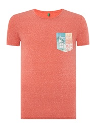 United Colors Of Benetton Print Crew Neck Regular Fit T Shirt Red